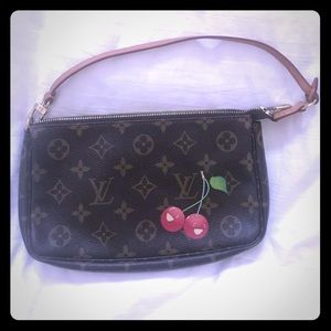 Louis Vuitton mono cherry pochette accessory bag